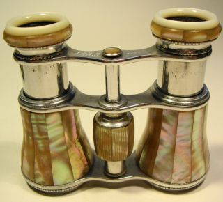 Edwardian Mother Of Pearl Opera Glasses By J.  Lizars Glasgow photo