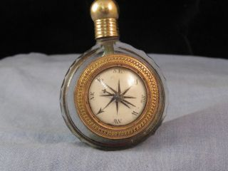 Rare Georgian Perfume Scent Bottle & Compass & Grecian Cameo Combo Grand Tour ? photo