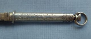 Early 18th.  C.  ' Dutch ' Chatelain Solid Silver Engraved Tweezers.  C.  1740.  Nr. photo