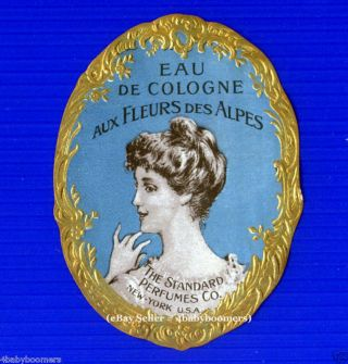 Antique ~ Eau De Cologne ~ Vintage French Standard Perfumes Company Bottle Label photo