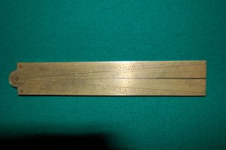 Early1700 ' S Brass Sector Rule (lis Metauac) Fine Condition photo