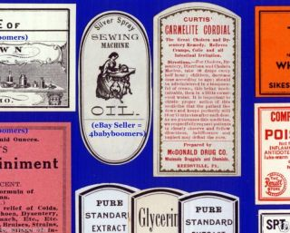 20 1860s - 1930s Antique Pharmacy Drug Store Medicine Bottles Labels photo