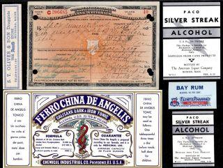 Aug 19 & 20 1925 ~for Gastritis~ J Mcpherson Prohibition Prescription Temperance photo