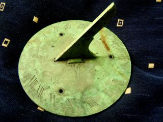 Rare Antique Bronze/brass Sundial Signed.  G.  R.  Ebsworth Of 54 Fleet St London photo