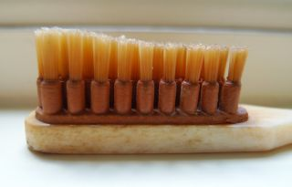 One Unused Period Bone Tooth Brush,  Lerclerc,  Paris,  France photo