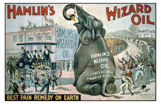 Hamlin ' S Hamlins Wizard Oil Quack Medicine Art Print photo