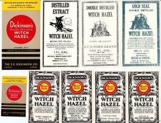 Halloween ~ Witch On A Broom ~ & Pharmacy Drug Store Apothecary Medicine Labels photo