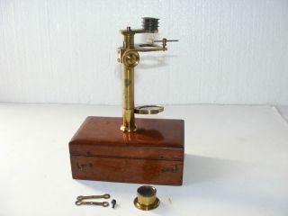 Early Botanical Microscope By R.  Field & Son Of Birmingham,  C.  1830 photo