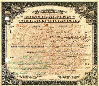 Old 1925 Prohibition Whiskey Doctor ' S Cold Prescription Pharmacy Bar Minnesota photo