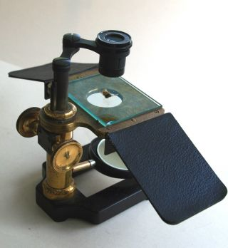 W.  Watson & Sons,  Ltd.  Antique Brass Simplex Dissecting Microscope,  Circa 1910 photo