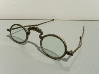 Antique Chinese Spectacles,  Eyeglasses,  Dragon Heads,  Bamboo Pattern Stems photo
