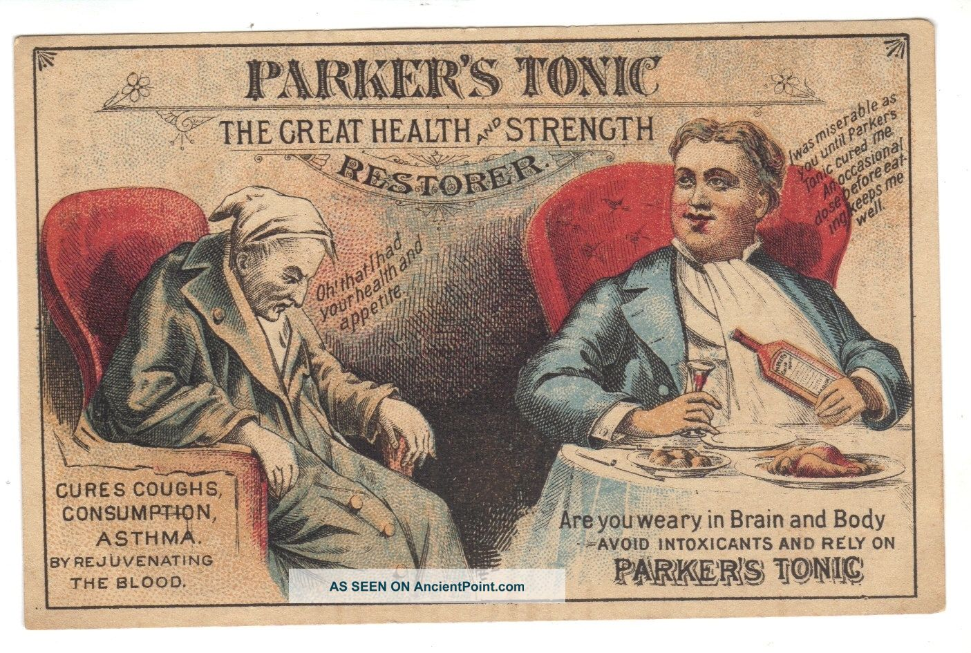 Quack medicine trade card cures consumption quack medicine photo