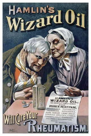 Quack Medicine Hamlin ' S Hamlins Wizard Oil Poster photo