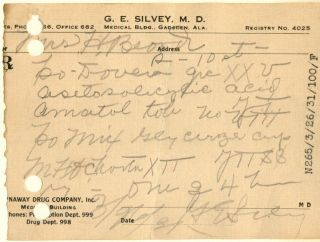 1931 Opium Prescription & Pharmacy Pharmacy Dover Narcotic Medicine Bottle Label photo