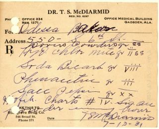 1931 Opium Prescription+ Pharmacy Drugstore Dover Narcotic Medicine Bottle Label photo