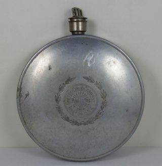 Antique Vtg United Drug Co Primitive Aluminum Heating Pad Medicine Science 1915 photo