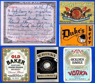 Antique March 23 1932 Prohibition Prescription+drugstore Apothecary Lot photo