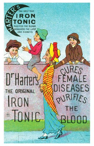 Dr Harter ' S Cure Female Diseases Quack Medicine Poster photo