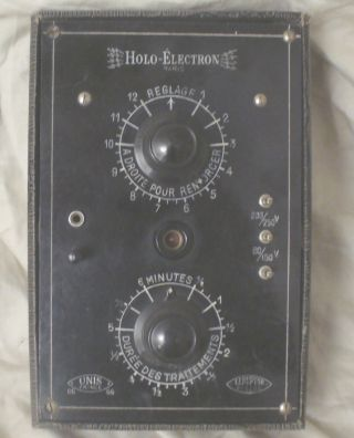 Vintage Holo - Electron Violet Ray Machine Quack Medicine Box Only No Wands Rare photo