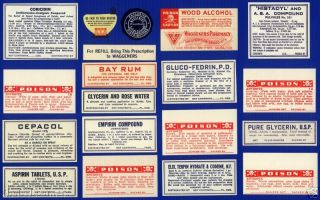 30+ Old Salida Colorado Pharmacy Medicine Bottle Labels photo