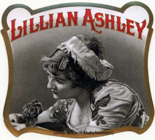 Antique~ Lillian Ashley ~ Lady Embossed Label photo