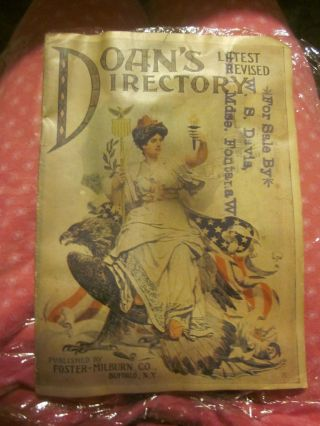 Antique Doan ' S Directory Advertisement Kidney Pills 32 Pages Of Articles photo