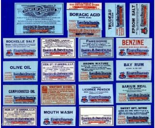 25 Opium+pharmacy Label Saranac Lake George Glens Falls photo