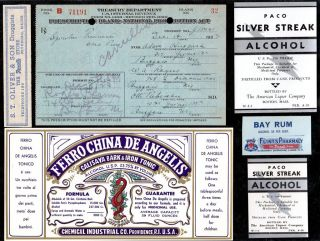 Dec 8 1923 Dec 14 Adam Huppuch One Pint Prohibition Prescription Buffalo & Label photo