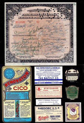 Old Oct 22 1926 John Palutis ~prohibition Whiskey Prescription~ Document History photo