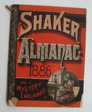Booklet~shaker Almanac 1886 photo