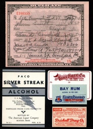 Dec 28 1929 Prohibition Prescription John Smith Houtzdale Pa +rum Pharmacy Label photo