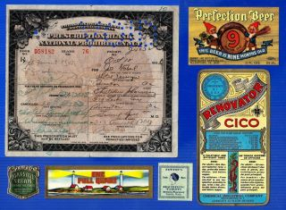 Oct 12 1926 Jo Gabel Prohibition Prescription Hotel Casey Drug Store Scranton Pa photo