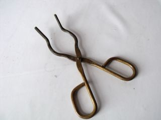 Crucible Tongs,  Solid Brass,  Vintage (chemistry) Quality. photo