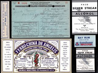 Jan 13 1924 Veronica Mcgrath ~prohibition Prescription~ & Label Lot Lancaster Ny photo