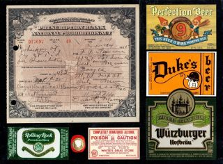 Nov 14 - 19 1925 Whiskey For Bronchitis Prohibition Prescription Bootleg Moonshine photo