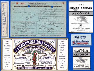 Jan 7 1924 Barbara Ward 1 Pint Liquor Prohibition Prescription Buffalo Label Lot photo