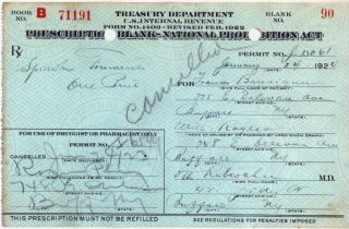 1924 ~prohibition Liquor Prescription~ Buffalo photo