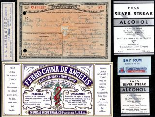 Aug 15 1925 M.  E.  Conroy Prohibition Rx Prescription Duluth Nopeming Min Label Lot photo