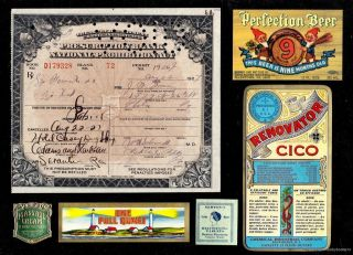 Aug 22 1927 Prohibition Prescription Moonshine Bootleg Scranton Document History photo