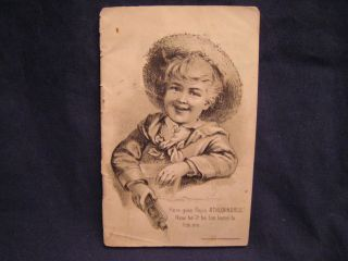 Antique Vtg Victorian Athlophoros Remedies Booklet 1888 photo