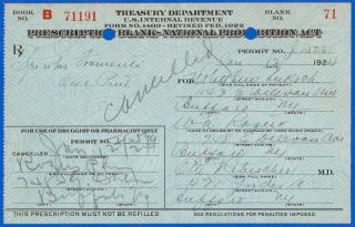 Jan 12 1924 Mathew Luksch 1 Pint Prohibition Prescription & Label Lot Buffalo Ny photo