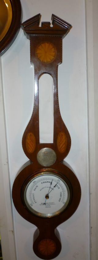 Very Pretty Antique Aneroid Barometer By Negretti photo