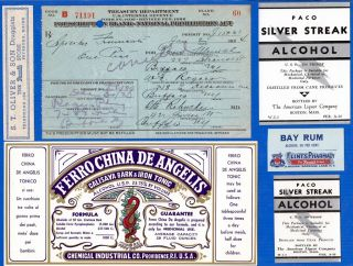 Jan 2 1924 Or Dec 3~ 1 Pint Liquor Prohibition Prescription Buffalo Ny Label Lot photo