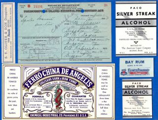Dec 12 1923 Dec 19 Otto Strauss 1 Pint Prohibition Prescription Buffalo & Labels photo