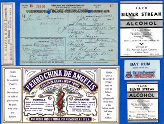 Dec 24 1923 ~christmas Eve~ 1 Pint Alcohol Prohibition Prescription & Label Lot photo