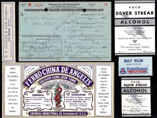 Jan 15 1924 Marion Mclaren 1 Pint Liquor Prohibition Prescription Buffalo+ Label photo