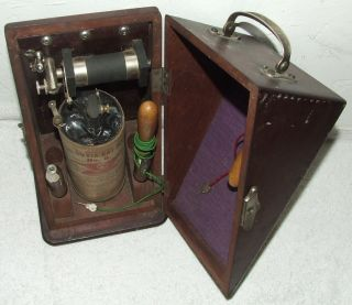 Antique 1898 Electro - Therapy Quack Medicine Shock Machine Cure All Machine photo