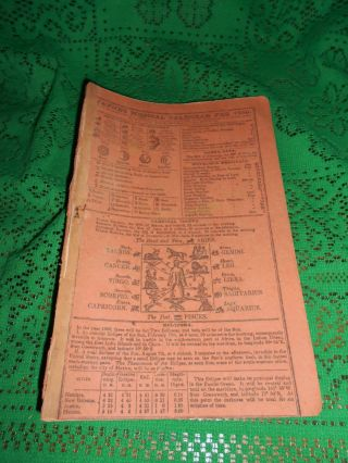 Antique 1850 Dr Jaynes Medical Almanac Quack Medicine Hanover Neck Morris Cty photo