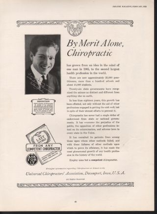 1924 Universal Chiropractor Health Doctor Cullen Landis photo
