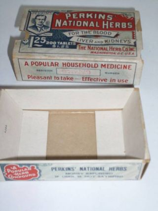 Vintage Perkins National Herbs Box Blood Liver Kidneys photo